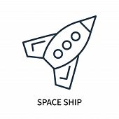 Space Ship Icon Isolated On White Background. Space Ship Icon Simple Sign. Space Ship Icon Trendy An poster