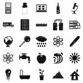 Chemical Element Icons Set. Simple Set Of 25 Chemical Element Icons For Web Isolated On White Backgr poster