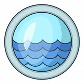 Porthole Window Of Sailing Ships Icon. Cartoon Illustration Of Porthole Window Of Sailing Ships Icon poster