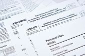 Tax Reporting And Retirement Plan. Personal Plan 401k Form On Against Background 5304-simple, 53050- poster