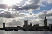 Dramtic Sky Over Parliament poster