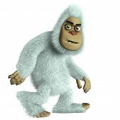 pic of bigfoot  - 3 d cartoon cute white bigfoot toy - JPG