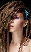 picture of iroquois  - Fashion hairstyle with dreads  - JPG