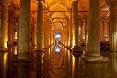 pic of cistern  - the Basilica Cistern in  Istanbul Turkey - JPG