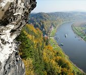 Steamer in the Upper Elbe Valley in Saxony