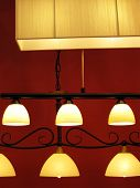 picture of light fixture  - any nice ceiling lights with pieces of glass - JPG