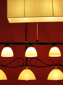 foto of light fixture  - any nice ceiling lights with pieces of glass - JPG