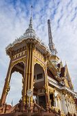stock photo of crematory  - The Architecture of Thai crematory in Bangkok - JPG