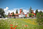 stock photo of serbia  - Orthodox Monastery Zica - JPG