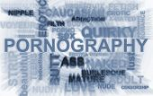 foto of pornography  - Pornography related words in illustration blur abstract - JPG