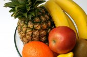 picture of fruit bowl  - detail of various fruit in a bowl - JPG