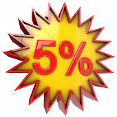 Star Discount Of Five Percent