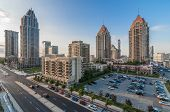 stock photo of suburban city  - High rise multi storey condominium at Mississauga ontario - JPG