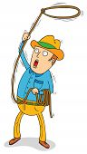 picture of lasso  - Cowboy With Lasso - JPG