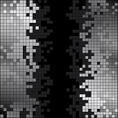 foto of pixel  - Abstract black and white pixels digital background - JPG