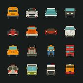 stock photo of ambulance car  - Car icons transport eps 10 vector format - JPG
