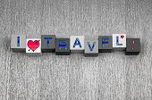 stock photo of girlie  - I Love Travel - JPG