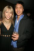 Ashley Peldon and Johnny Asuncion at Courtney and Ashley Peldon's birthday party, Area, West Hollywo