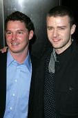 Shawn Hatosy and Justin Timberlake at the World Premiere of