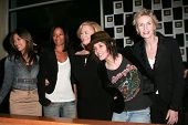 Janina Gavankar, Rose Rollins, Cybill Shepherd, Katherine Moennig and Jane Lynch at the 4th season k