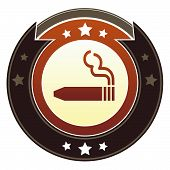 Cigar or smoking permitted icon