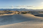 stock photo of mesquite  - Sand dunes in Mesquite Flat Sand Dunes at dawn in Death Valley National Park California USA - JPG