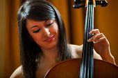stock photo of viola  - Woman playing viola - JPG