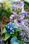 pic of crematory  - blue nature flower arrangement bouquets for funeral - JPG