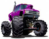 pic of muscle-car  - Cartoon Monster Truck - JPG