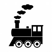 picture of locomotive  - Locomotive sign on white background - JPG