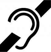 image of deaf  - Vector Illustration of the Deafness Access Symbol - JPG