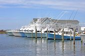 foto of outer  - fishing boats in Hatteras on the Outer banks - JPG