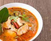 foto of curry chicken  - tom yum soup  - JPG
