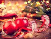 picture of hazelnut tree  - Xmas holiday table setting - JPG