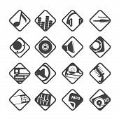 image of headgear  - Silhouette Music and sound icons  - JPG