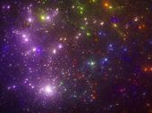 image of outerspace  - Purple starfield fractal computer generated abstract background - JPG