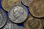 stock photo of pesos  - Coins of Cuba - JPG