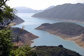 pic of water shortage  - The High Island Reservoir located in the far south eastern part of the Sai Kung Peninsula - JPG