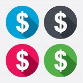 foto of currency  - Dollars sign icon - JPG