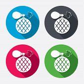 stock photo of fragrance  - Perfume bottle sign icon - JPG