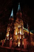 picture of neo  - old building of polish church which has one hundred years - JPG