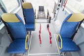 foto of crippled  - Minibus for physically disabled people from the inside - JPG