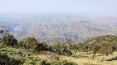 stock photo of ethiopia  - Panorama of the landscape of Semien Mountains National Park - JPG