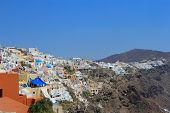 picture of canopy roof  - the unique architecture of Santorini Oia Greece - JPG