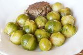 pic of brussels sprouts  - Tasty Brussels sprout and meat cutlet Dish - JPG