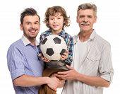image of grandfather  - Generation portrait - JPG