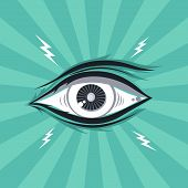 stock photo of illuminati  - abstract eye theme vector graphic art illustration - JPG
