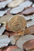 image of twenty dollars  - New Zealand kiwi dollar coin money currency - JPG