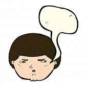 picture of annoying  - cartoon annoyed man with speech bubble - JPG