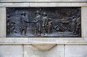 picture of common  - Boston 300th Anniversary Monument  AD 1630 Common Massachusetts USA - JPG